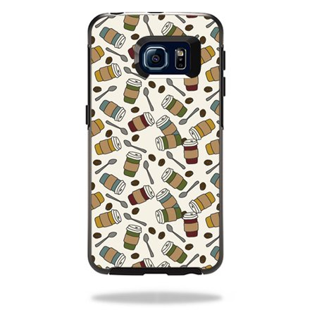 MightySkins Protective Vinyl Skin Decal for OtterBox Symmetry Galaxy S6 Edge wrap cover sticker skins Coffee