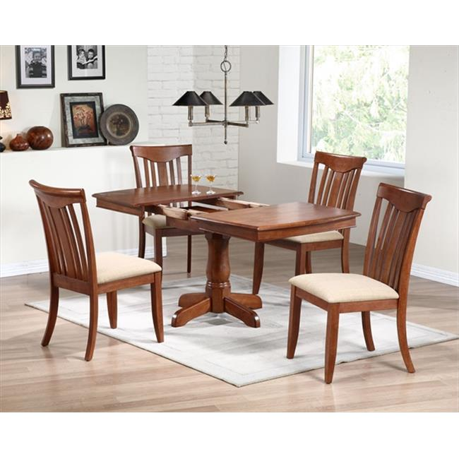 Iconic Furniture Boat Shape Dining Table, Cinnamon