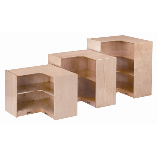 Jonti-Craft Super Sized Corner Shelving Unit with Casters