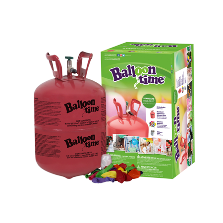Balloon With Helium (Balloon Time 9.5in Helium Tank Kit, Includes 30 Balloons &)