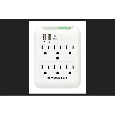 Monster Just Power It Up 6 outlets Surge Tap