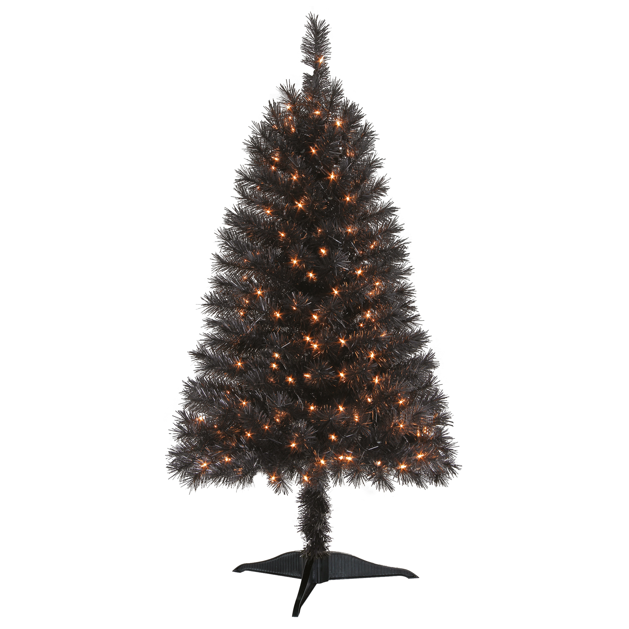 Holiday Time Prelit Spruce Christmas Tree 4 ft, Black ...