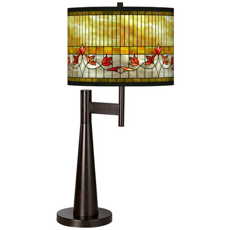 Giclee Glow Tiffany-Style Lily Giclee Novo Table Lamp