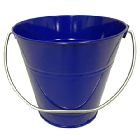 4.3 x 4.3 In. Royal Blue Rims Metal Bucket - 6 Pack Self Rimming Mexican Sand