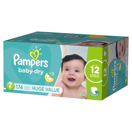 Pampers Baby-Dry Diapers Size 2 174 Count (Size 2 Pampers Sensitive Diapers)