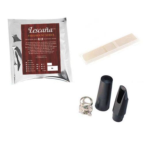 Lescana Paramount Series 50 Pack Alto Saxophone Reeds, 50 Pack Music Teacher Bundle (Strength 3.5) + Bonus M&L Mouthpiece Kit