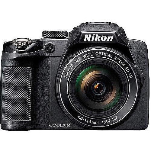 "Nikon Coolpix P500 12.1MP 36X Black Ultra Zoom Camera, 3"" LCD Display, HD Video"