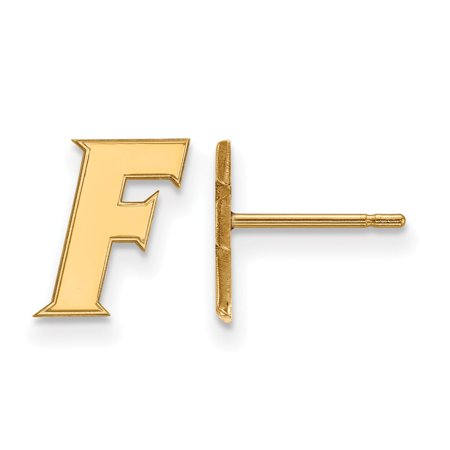 Solid 10k Yellow Gold University of Florida Extra Small Post Earrings (8mm x -
