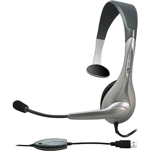Cyber Acoustics Computer Mono USB Headset