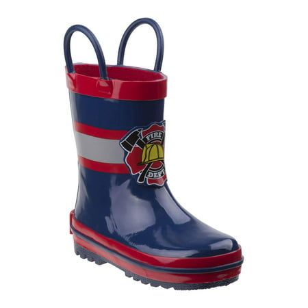 Rugged Bear Boy's Plastic Patch Rain Boots