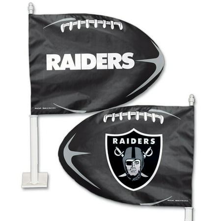Oakland Raiders WinCraft Football Shaped Car Flag - No Size