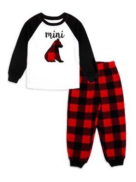 Matching Family Christmas Pajamas Toddler Boy Girl Unisex Mini Bear 2-Piece Pajama Set