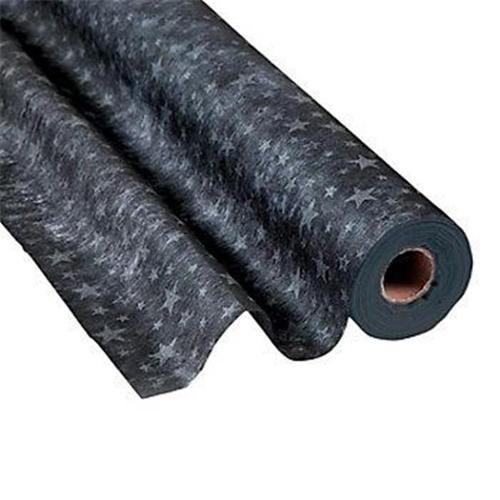 Black with Silver Stars Gossamer Roll 100 FT X 3 FT Wedding Aisle Decoration Table Cover NEW by FX