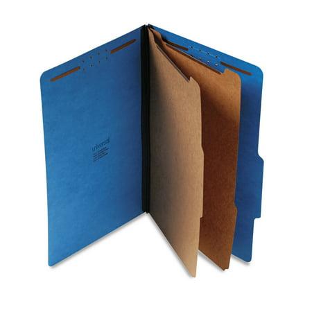 Six Section Pressguard Classification Folders - Universal Pressboard Classification Folders, Legal, Six-Section, Cobalt Blue, 10/Box -UNV10311