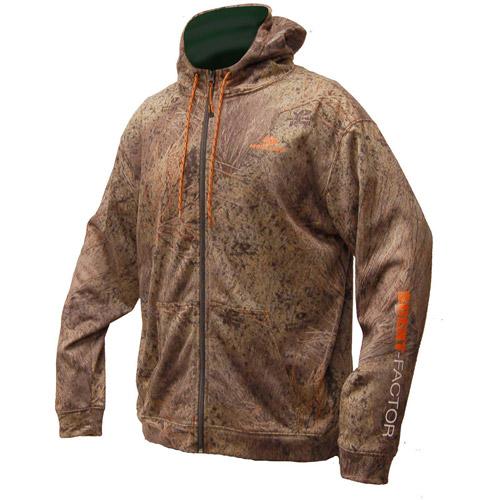 Mossy Oak Men's Brush Scent Factor Zip Hoody