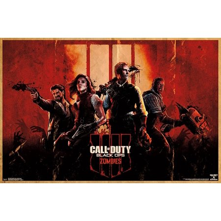 Call of Duty Black Ops 4 - Zombie Key Art Poster Print - Rob Zombie Halloween Poster