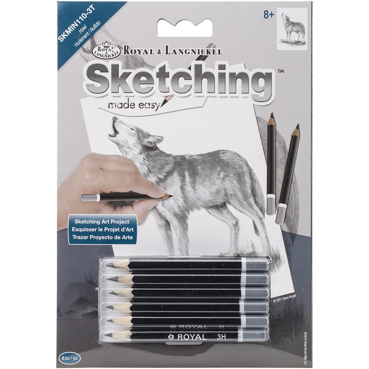 "Sketching Made Easy Kit 5'x7""-Howl"