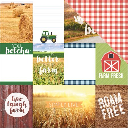 Discover Usa Double Sided Cardstock 12 X12  Midwest Tags   Case Pack Of 15