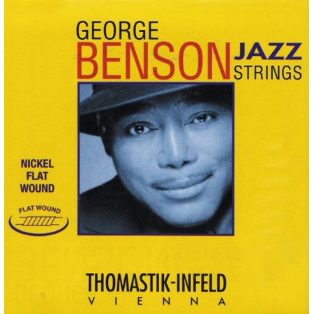 Thomastik-Infeld GB39 Jazz Guitar Strings: Jazz Series Strings Steel Core; Pure Nickel Flat Wound - Single A String, Used by Students and Professionals.., By ThomastikInfeld From USA
