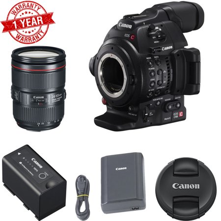 Canon Eos C100 Mark II with Dual Pixel CMOS AF & EF 24-105