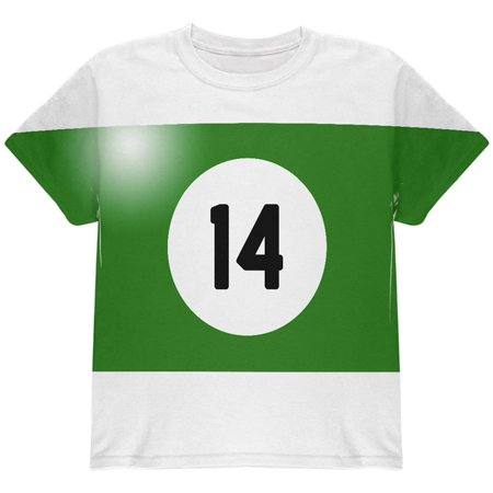 Halloween Billiard Pool Ball Fourteen Costume Youth T Shirt - Pool Halloween