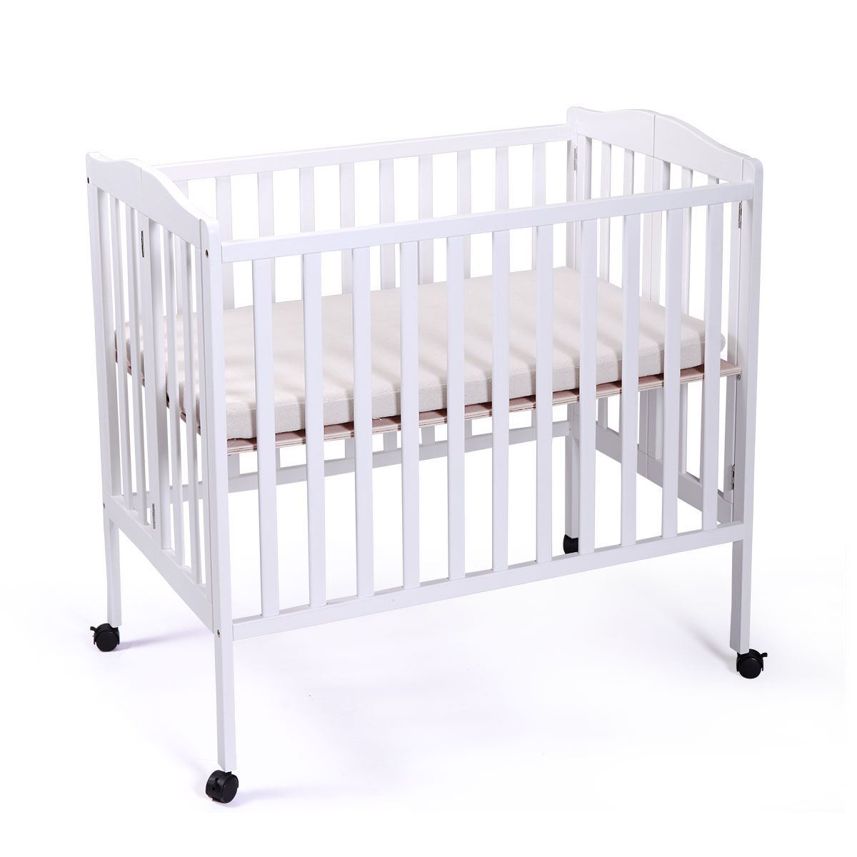 Picture of: Tobbi Baby Side Crib Wooden Toddler Bed Tiendamia Com