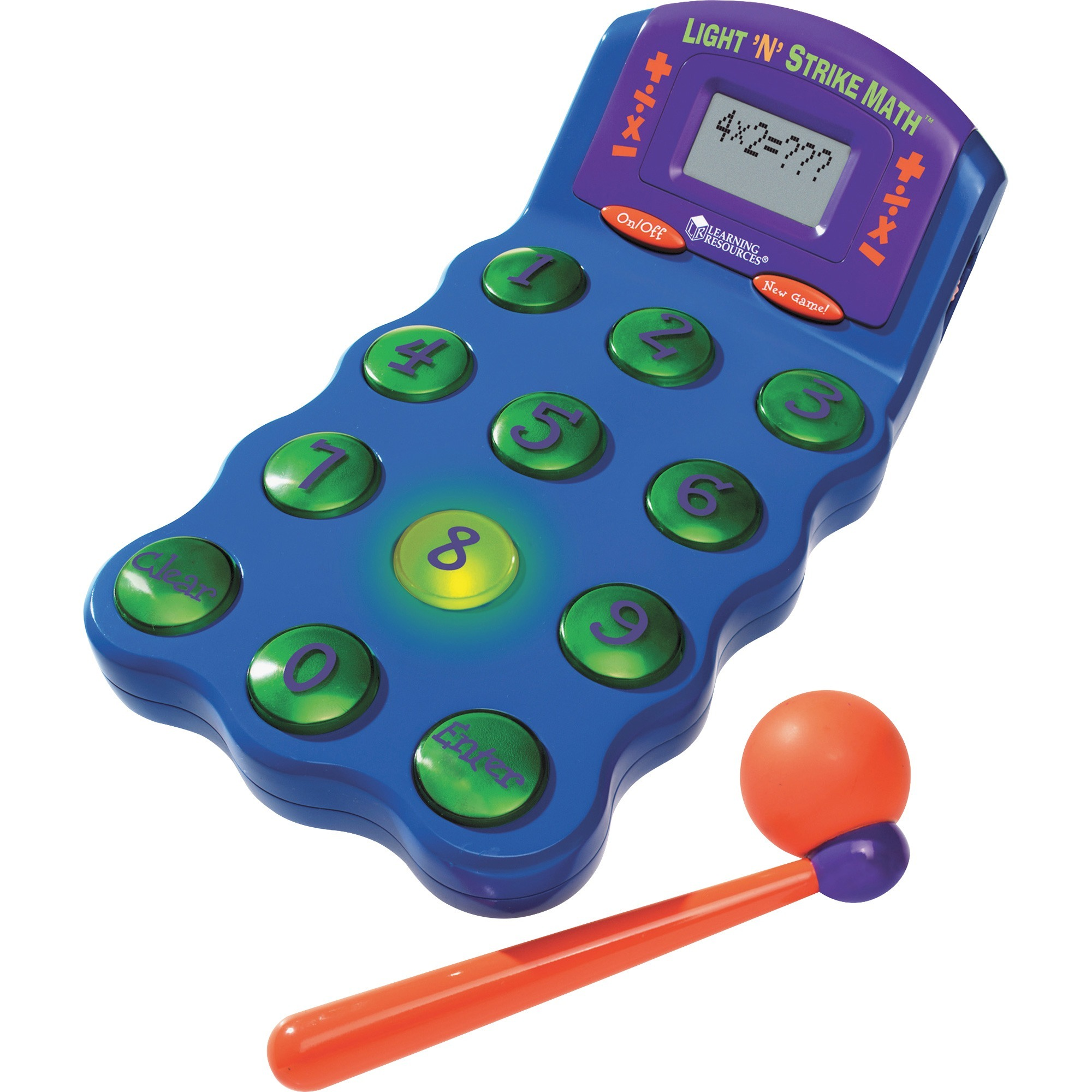 Learning Resources, LRNLER6906, Light 'N' Strike Math Game, 1 Each