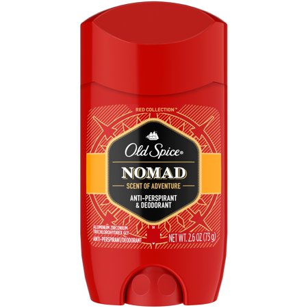 Mens Invisible Set - Old Spice Red Collection, Nomad Scent, Invisible Solid Anti-Perspirant and Deodorant for Men, 2.6 Oz