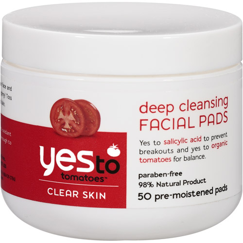 Yes To Tomatoes Clear Skin Deep Cleansing Facial Pads, 50ct