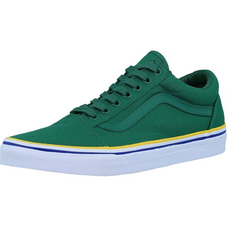 Vans Men's Old Skool Solstice 2016 Green/Blue/Gold Skateboarding Shoe - 12M / -
