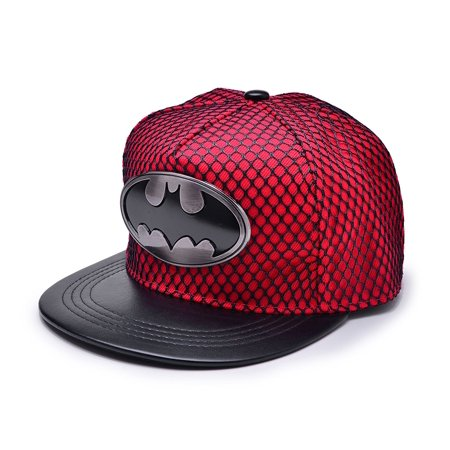 New Unisex Batman Hip-Hop Cosplay Snapback Adjustable Baseball Cap Hat Flat Hat - Female Batman Cosplay