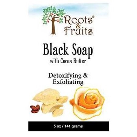 Roots & Fruits By Bio Nutrition Black Soap, Cocoa Butter & Orange Peel, 5