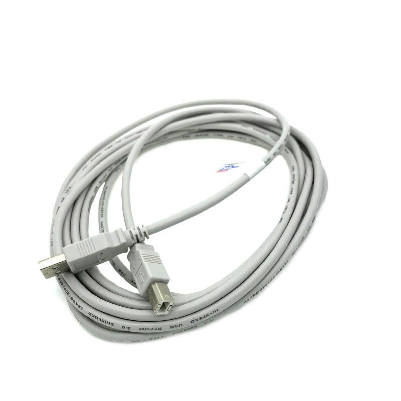 Kentek 15 Feet FT USB Cable Cord For CRICUT EXPLORE ONE Cutter Cutting Machine Beige