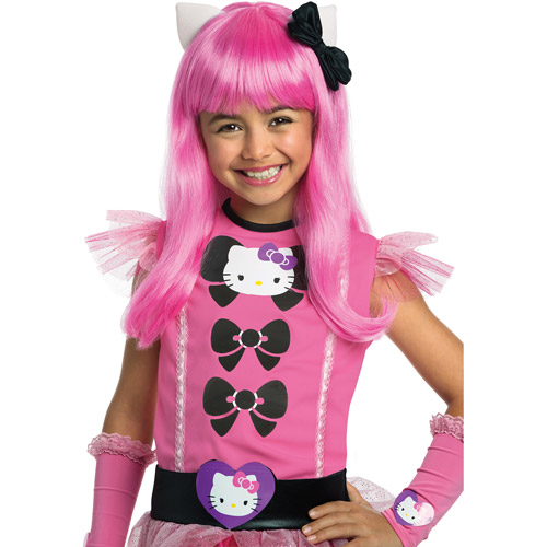 Rubies Hello Kitty Pink Long Hair Wig Child Halloween Accessory