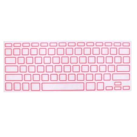 Unique Bargains Computer Keyboard Cover Protective Film Pink Clear for Apple MacBook Air 13.3