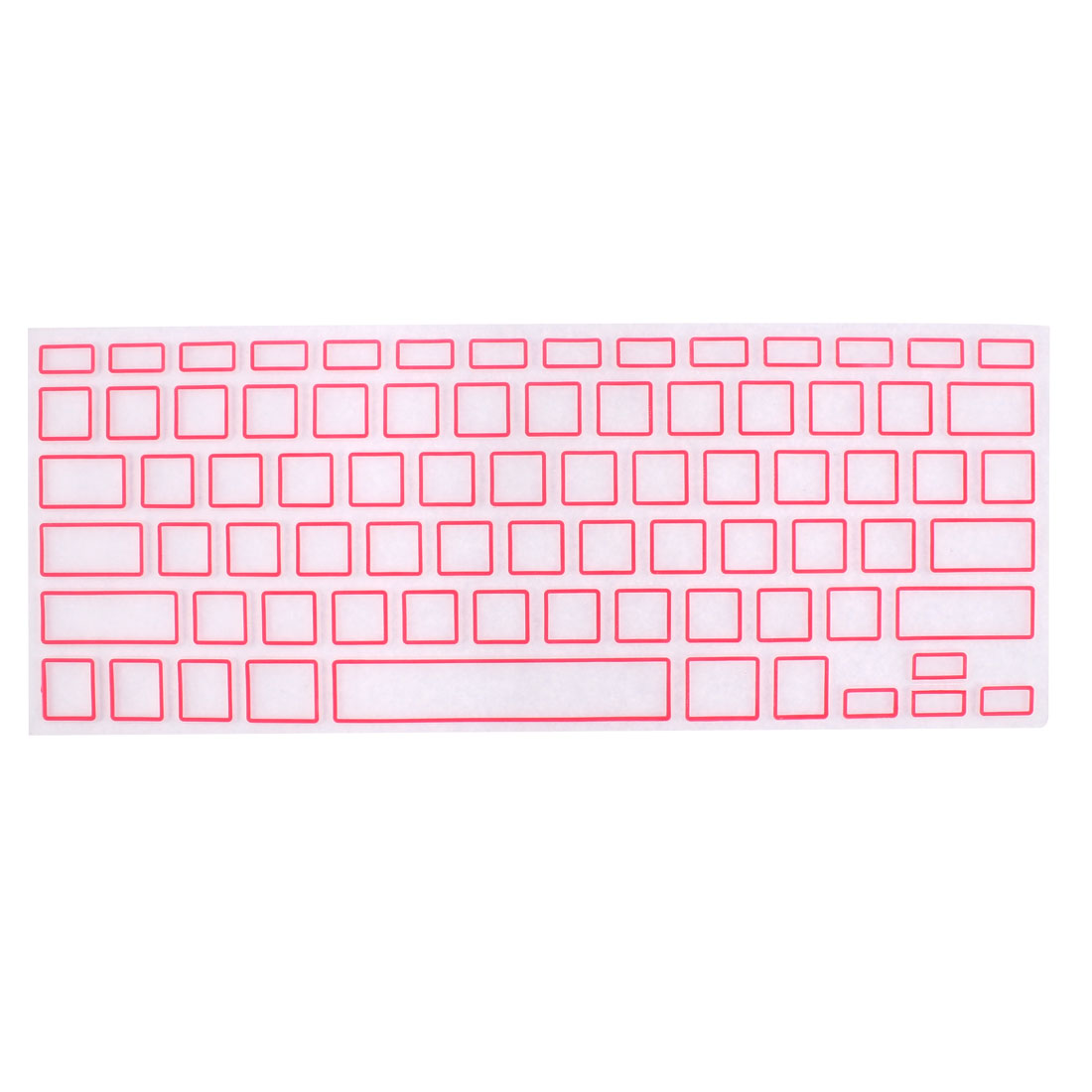 """Unique Bargains Computer Keyboard Cover Protective Film Pink Clear for Apple MacBook Air 13.3"""""""