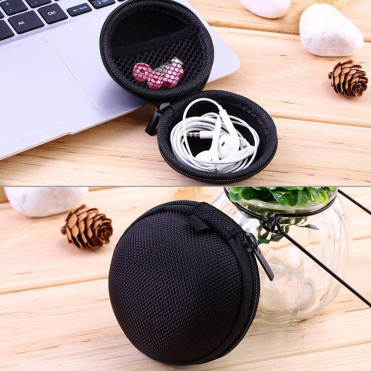 7 Colors PU leather Zipper Protective Headphone case Pouch Earphone Storage bag Soft Headset Earbuds Box Usb... by OUTAD
