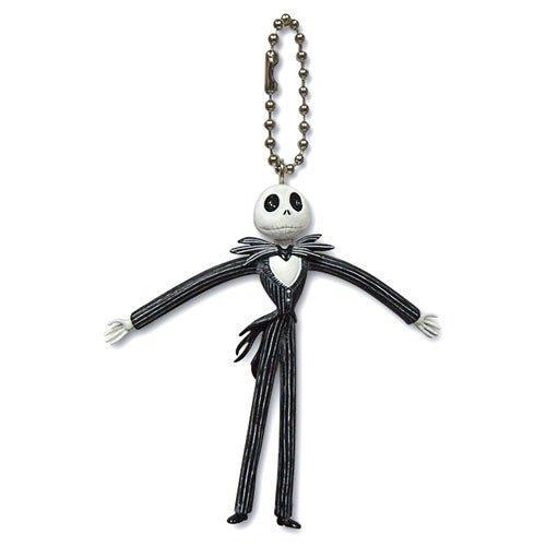 Disney Nightmare Before Christmas Bendable Keychain Jack Skellington