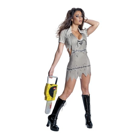 Texas Chainsaw Massacre Miss Leatherface Costume Adult](Chainsaws For Halloween)