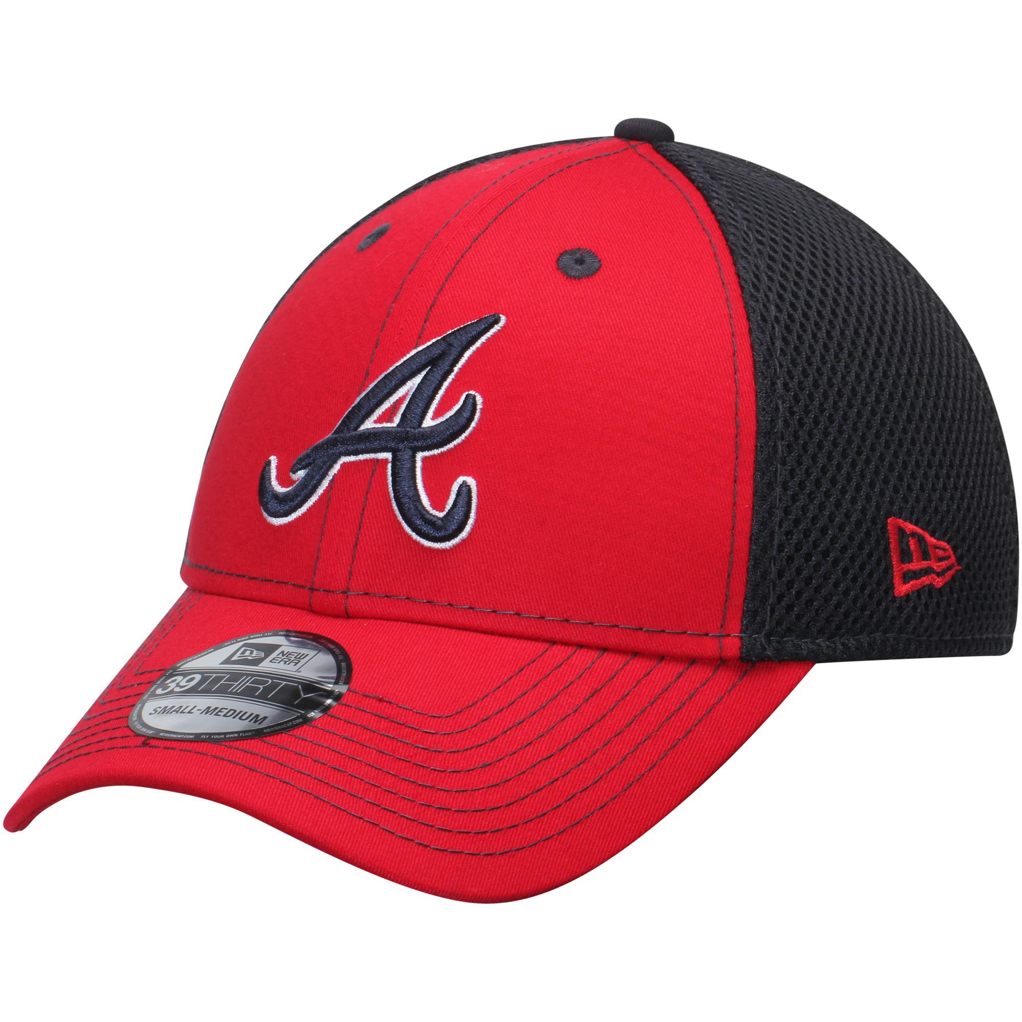 Atlanta Braves New Era Team Front Neo 39THIRTY Flex Hat - Red/Navy