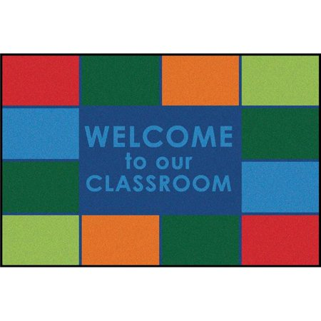 Carpets for Kids 36.6 3 ft. x 4 ft. 6 in. Rectangle Classroom Welcome Rug