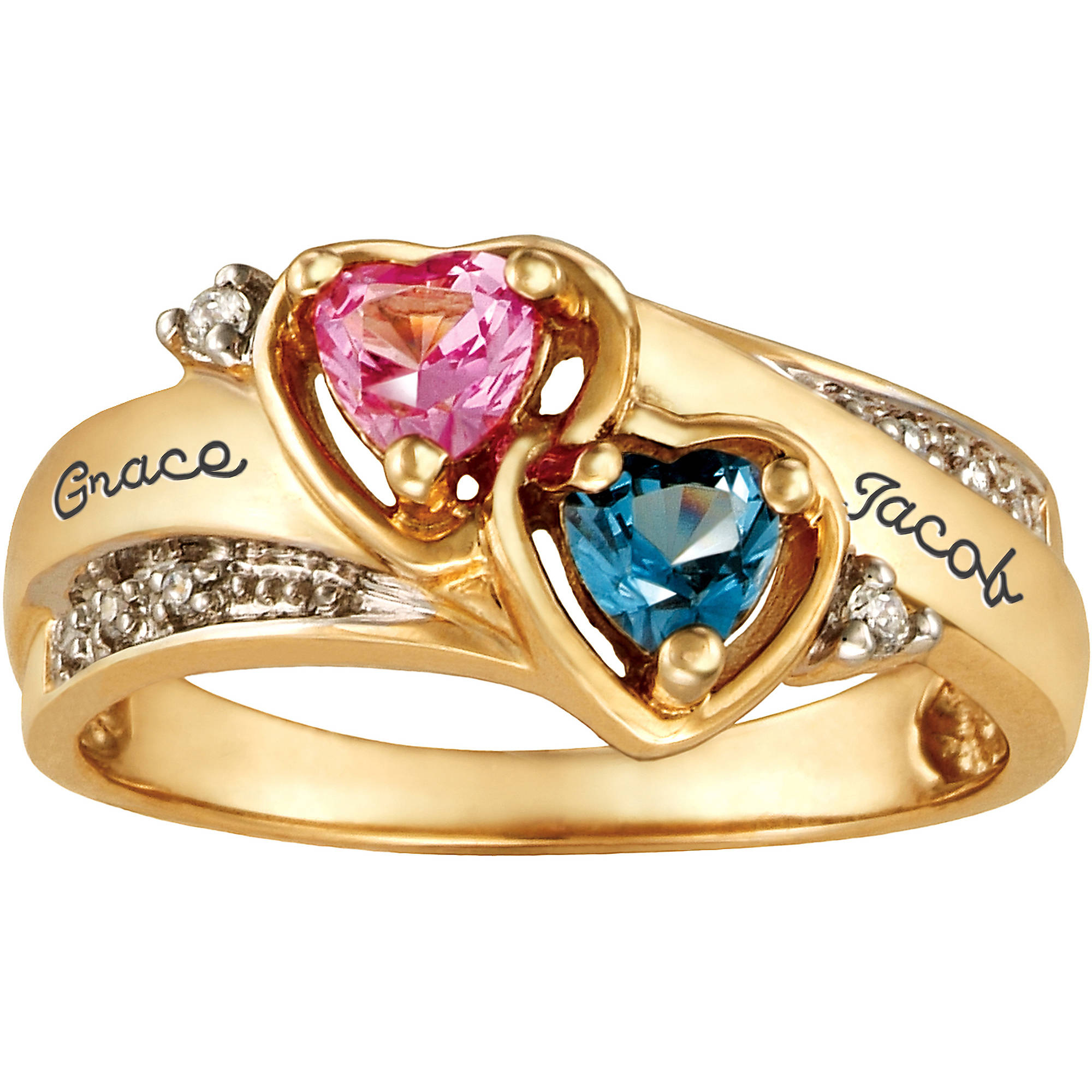 Personalized Keepsake Be Mine Promise Ring with Birthstones