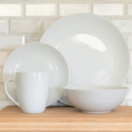 10 Strawberry Street Simply White Coupe 16-Piece Dinnerware Set (White 16 Piece Set)