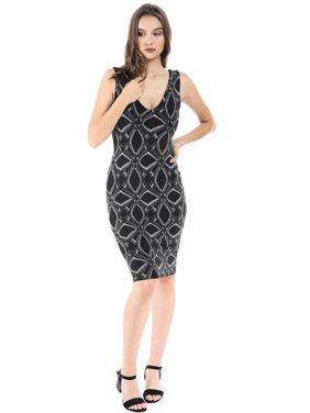 7e260ff7e357c Product Image Salt Tree Women s Glitter Insert Open Chest Bodycon Long Line  Dress