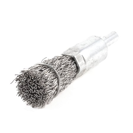 "Unique Bargains Silver Tone Steel Wire Metal Shank Grinding Brushes 2.8"" Length"