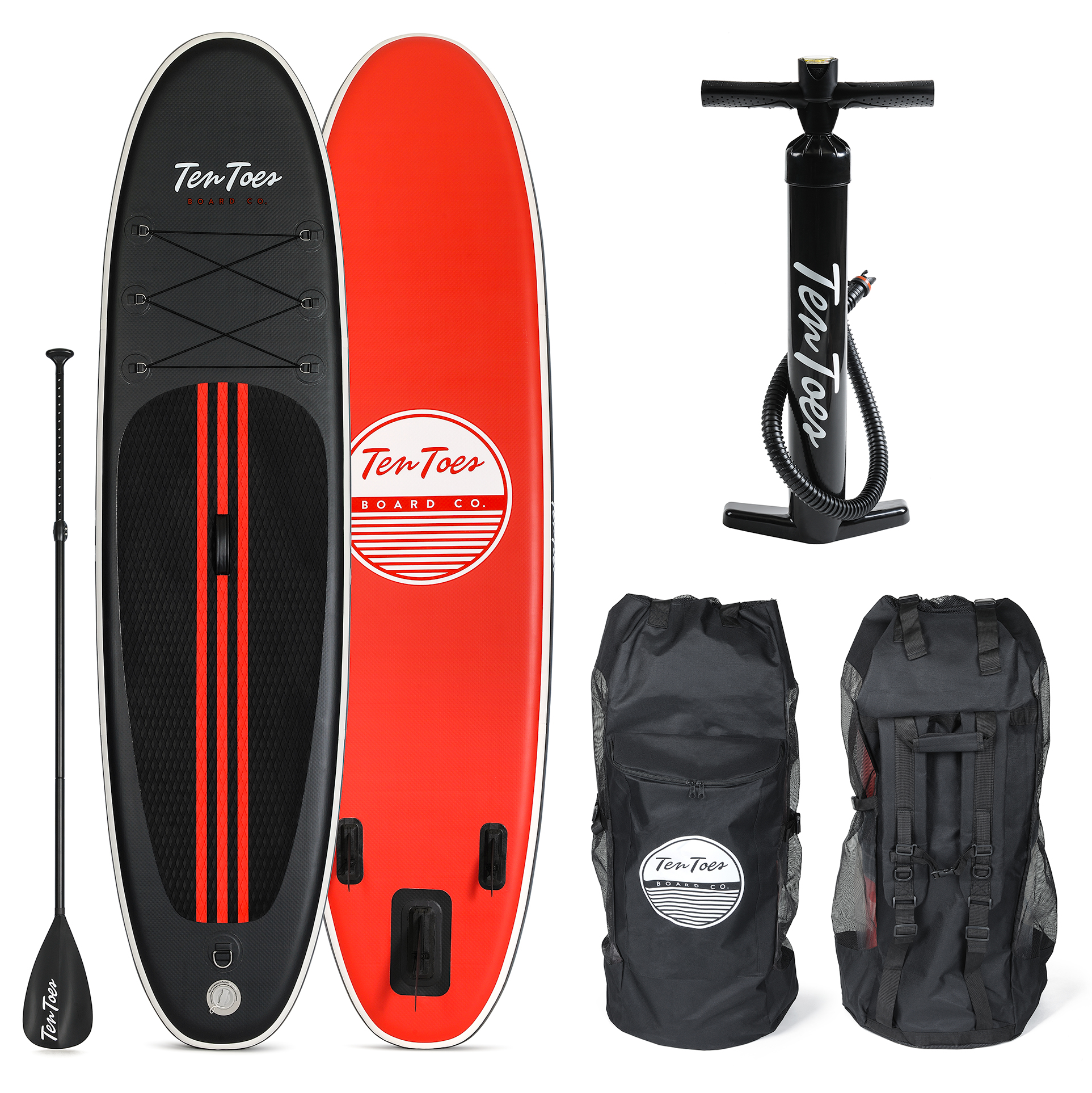 Ten Toes Weekender Inflatable Stand Up Paddle Board Bundle, 10'