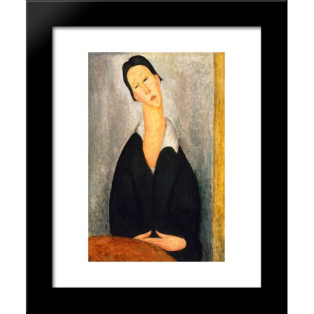 Portrait of a Polish Woman 20x24 Framed Art Print by Modigliani, Amedeo