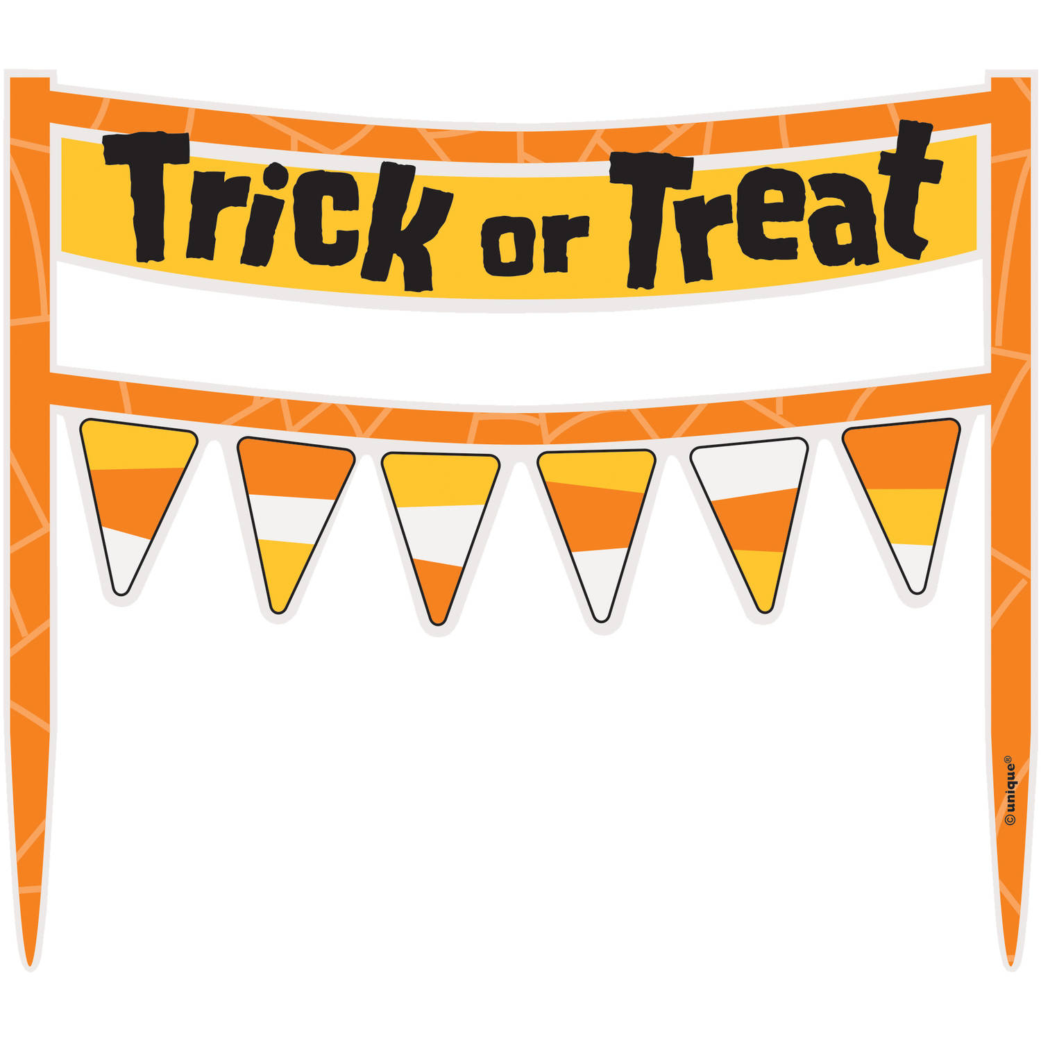 Cardboard Trick-or-Treat Halloween Cake Bunting Topper