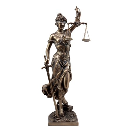 Lady Justice Statue - Ebros Gift Bronzed Resin Greek Goddess Lady Of Justice Statue 13.5