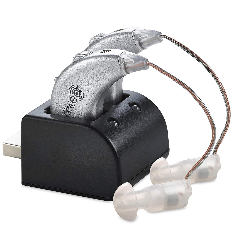 Dgtl Hearing Amplifiers - Rechgble BTE, USB Dock Premium Sound